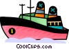 Cruise ship Vector Clipart picture