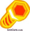 Vector Clip Art image  of a Colorful bolt