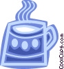 Hot cup of coffee Vector Clip Art image