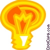 Vector Clipart graphic  of a Colorful light bulb