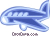 Vector Clip Art graphic  of a Commercial airplane