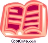 Vector Clipart graphic  of a Opened book