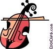 Cello and bow Vector Clip Art graphic