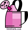 Vector Clip Art image  of a Watering Cans