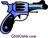 Loaded gun Vector Clip Art image