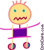 drawing of a child Vector Clip Art picture