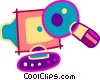 Computer virus Vector Clipart illustration