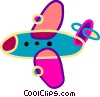 Commercial airplane Vector Clipart image