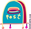 Colorful mailbox Vector Clipart picture