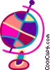 Vector Clip Art picture  of a Spinning globe