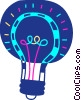 Colorful light bulb Vector Clip Art graphic