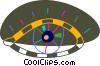 Vector Clip Art graphic  of a Colorful eye