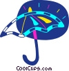 Vector Clipart image  of a Colorful umbrella
