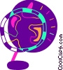 Spinning globe Vector Clip Art graphic