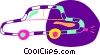 Vector Clip Art graphic  of a Family car