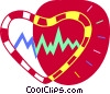 Heart rate Vector Clipart illustration