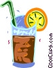 Vector Clipart image  of a Mixed drink with lemon slice