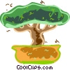 Vector Clipart illustration  of a Bonsai tree