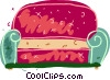 Vector Clip Art picture  of a Comfy couch