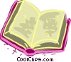 Open book Vector Clipart illustration