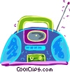 Vector Clipart illustration  of a Portable stereo