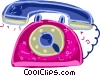 Ringing telephone Vector Clipart illustration
