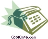 Office telephone Vector Clipart graphic