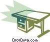 Office desk Vector Clip Art image