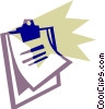 Vector Clipart picture  of a Clipboard with paper