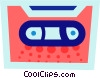 Vector Clipart graphic  of a Cassette tape