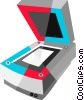 Vector Clipart image  of a Flatbed scanner