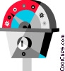 Vector Clip Art image  of a Parking meter