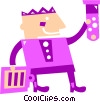 Scientist with clipboard and test tube Vector Clip Art picture