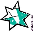 Colorful star Vector Clipart picture