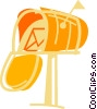 Full mailbox Vector Clip Art picture