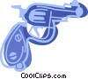Vector Clip Art picture  of a Hand gun