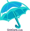 Vector Clip Art graphic  of a Opened umbrella