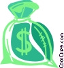 Money bag Vector Clipart illustration