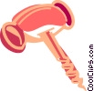 Vector Clipart image  of a Corkscrew