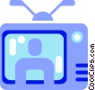 Vector Clipart graphic  of a Television set