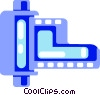 Vector Clipart image  of a Roll of film