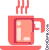 Vector Clip Art image  of a Hot cup of coffee