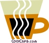 Vector Clip Art graphic  of a Hot cup of coffee