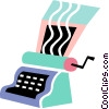 Vector Clip Art picture  of a Colorful typewriter