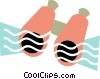 Vector Clip Art graphic  of a Colorful binoculars