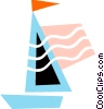 Colorful sailboat Vector Clip Art image