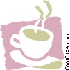 Vector Clipart illustration  of a Hot cup of coffee