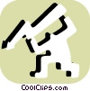Vector Clip Art image  of a Stick figure character with