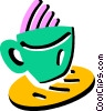 Vector Clip Art picture  of a Hot cup of coffee