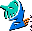 Satellite dish Vector Clipart image